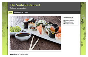 restaurant website example