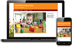 day care website example