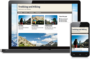 hiking extreme sports website example
