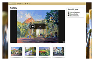artist gallery website example